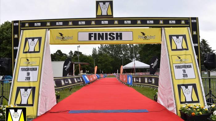 Yorkshireman finish line.